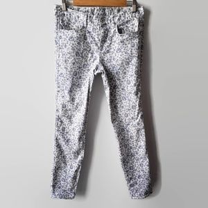 Madewell Skinny Ankle Floral Print Jeans 28